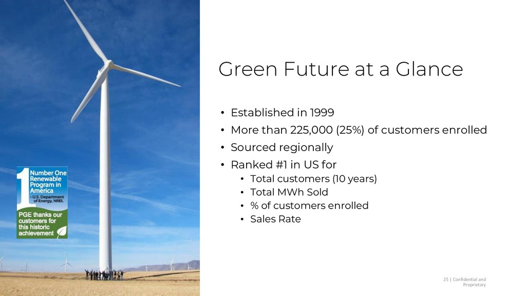 Green Future at a Glance • Established in 1999 ...