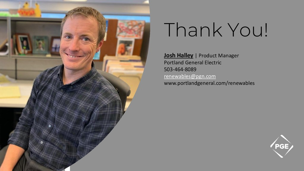 Thank You! Josh Halley | Product Manager Portla...