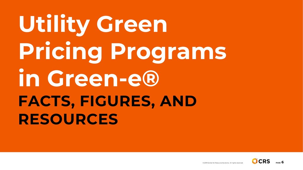 Utility Green Pricing Programs in Green-e® FACT...
