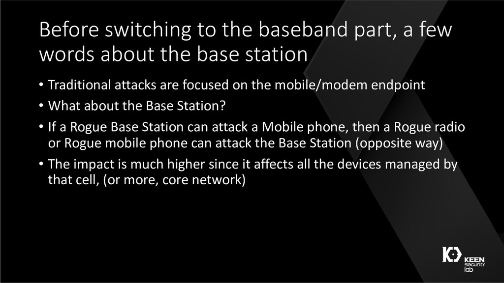Before switching to the baseband part, a few wo...