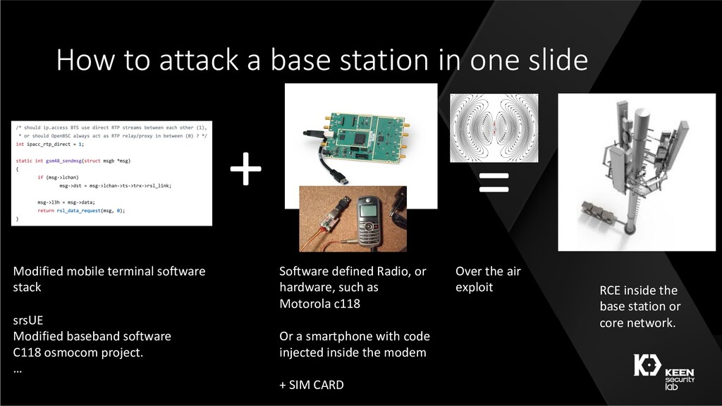 How to attack a base station in one slide + = M...