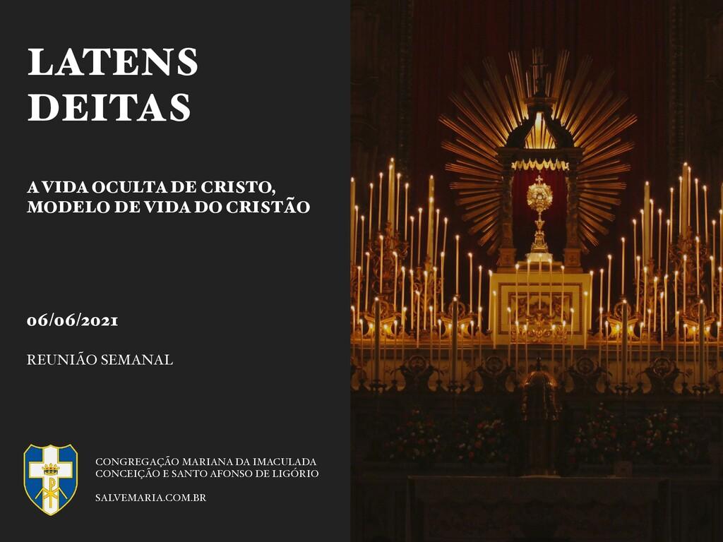 06/06/2021 REUNIÃO SEMANAL CONGREGAÇÃO MARIANA ...