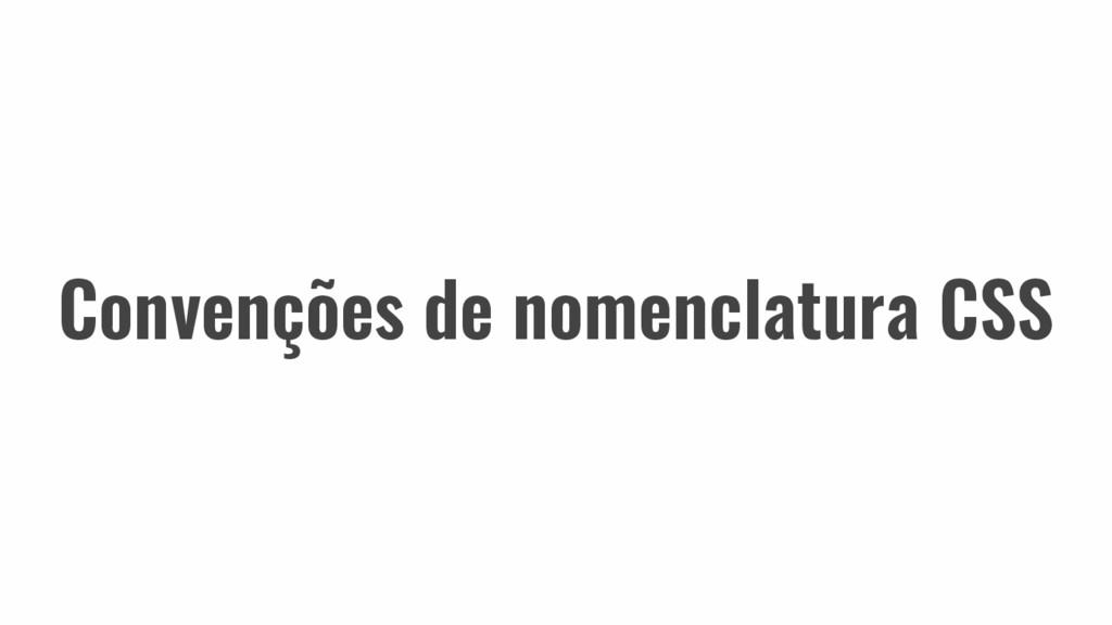 Convenções de nomenclatura CSS