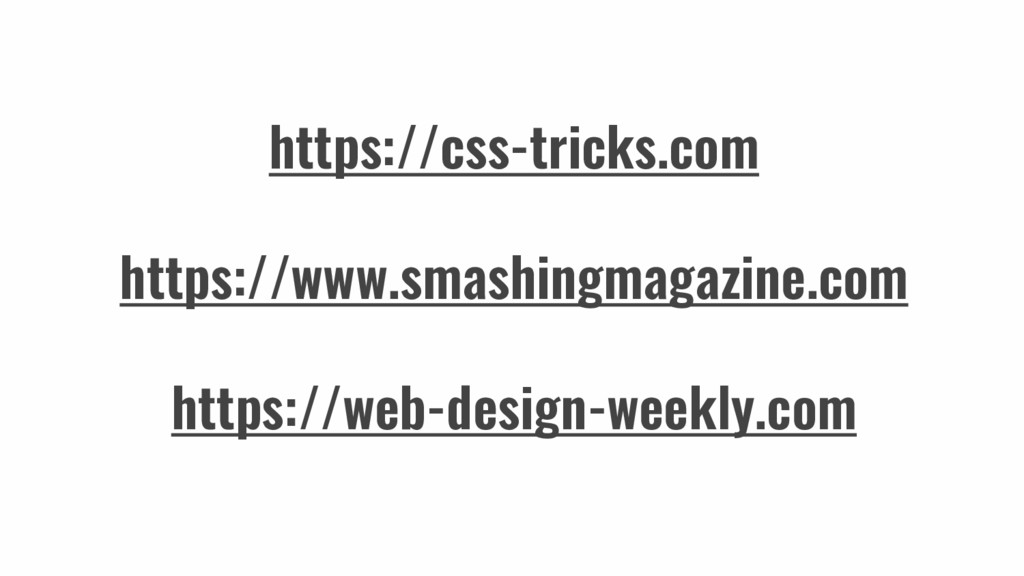 https://css-tricks.com https://www.smashingmaga...