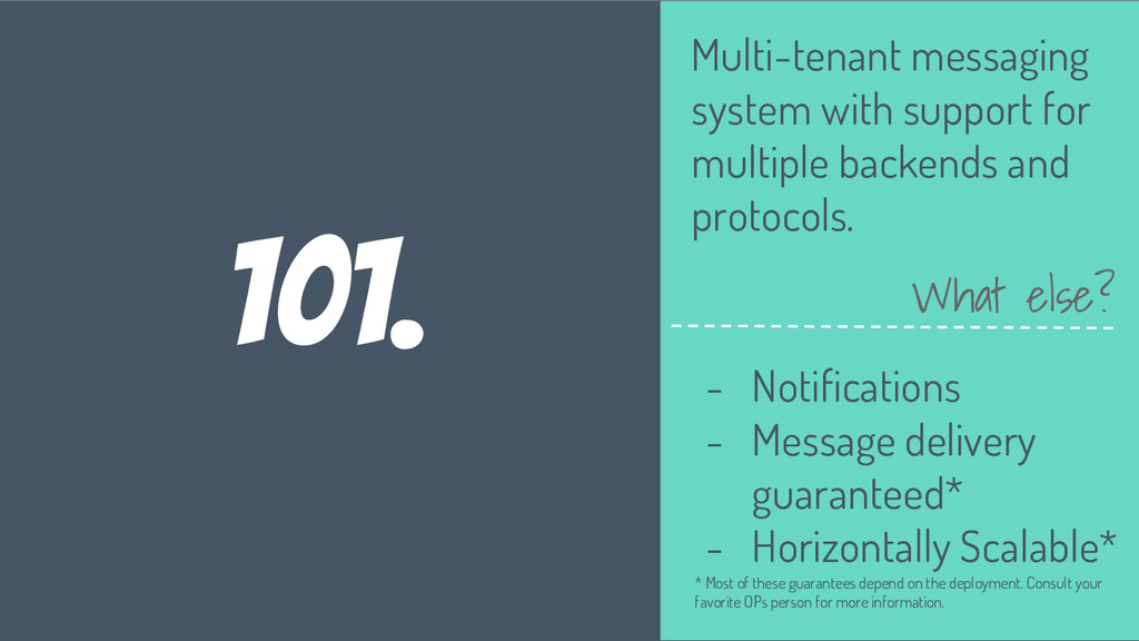 101. Multi-tenant messaging system with support...