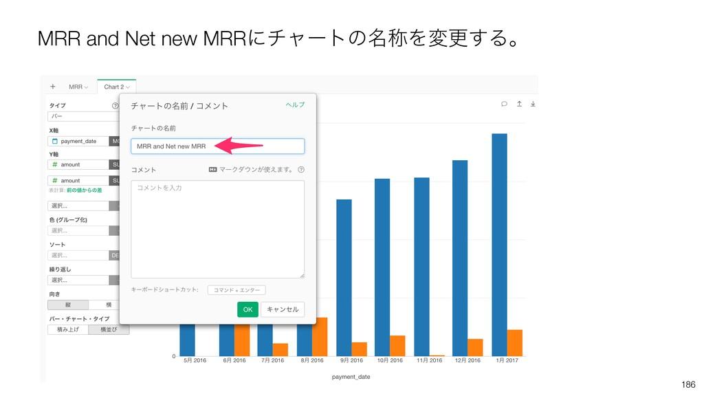 MRR and Net new MRRʹνϟʔτͷ໊শΛมߋ͢Δɻ 186