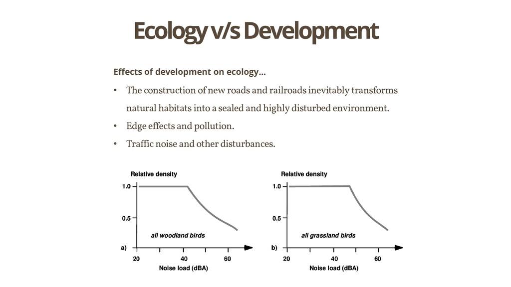 Ecology v/s Development Effects of development ...