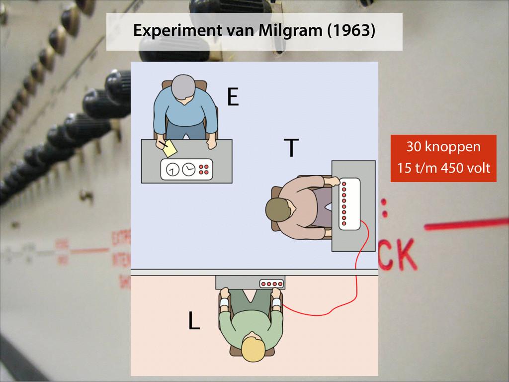 Experiment van Milgram (1963) 30 knoppen 15 t/m...