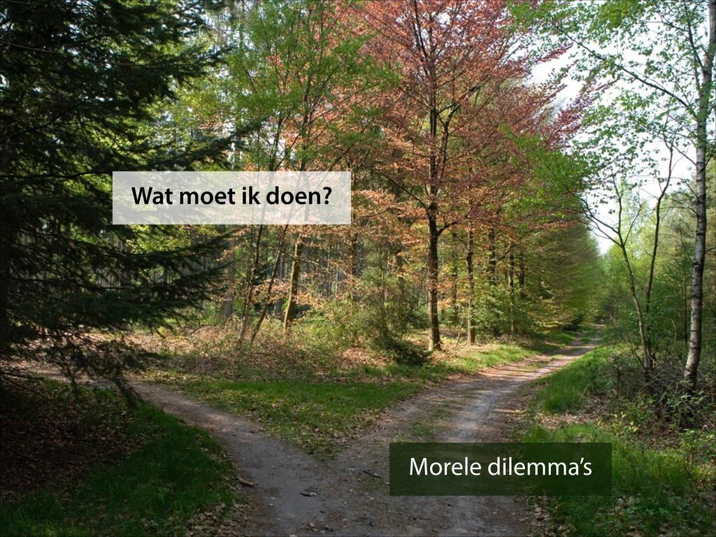 Morele dilemma's Wat moet ik doen?