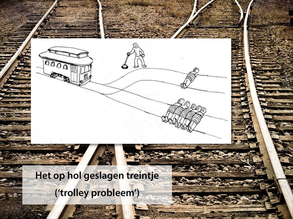 Het op hol geslagen treintje ('trolley probleem...