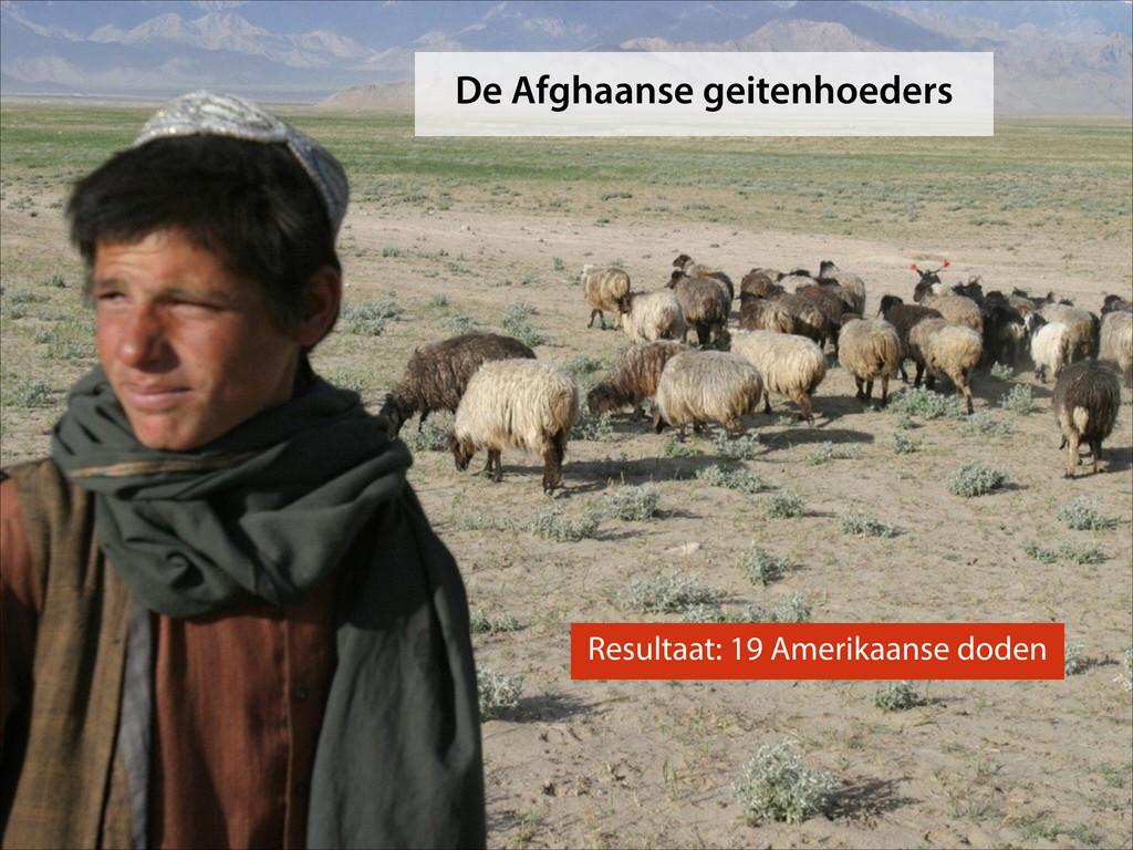 De Afghaanse geitenhoeders Resultaat: 19 Amerik...