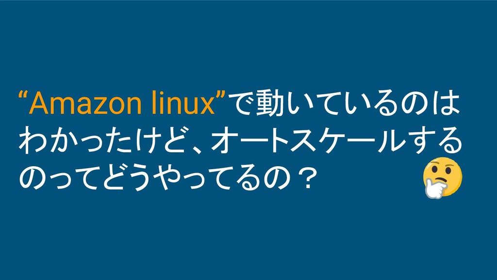 """""""Amazon linux""""で動いているのは わかったけど、オートスケールする のってどうやっ..."""
