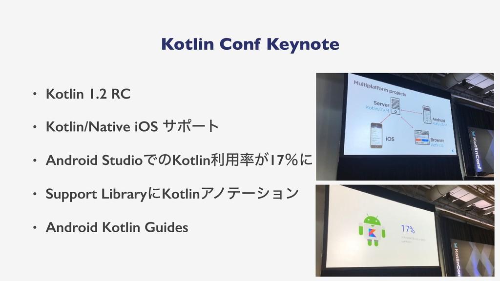 Kotlin Conf Keynote • Kotlin 1.2 RC • Kotlin/Na...
