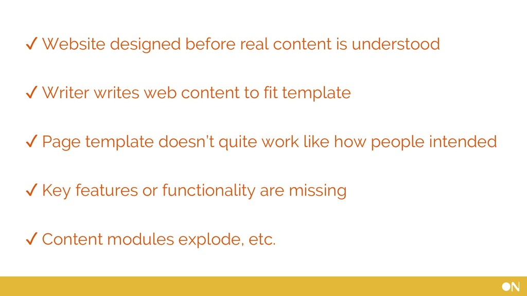 ✓ Website designed before real content is under...
