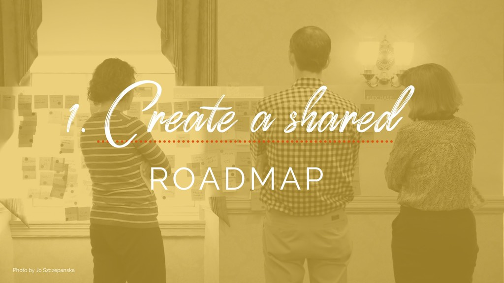 1. Create a shared ROADMAP Photo by Jo Szczepan...