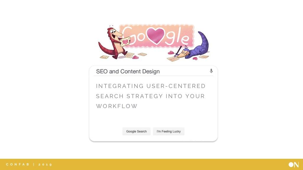 SEO SEO and Content Design I N T E G R A T I N ...