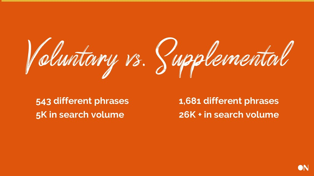 Voluntary vs. Supplemental 543 different phrase...