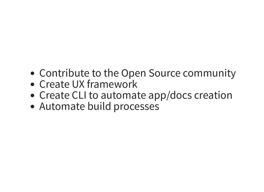 Contribute to the Open Source community Create ...