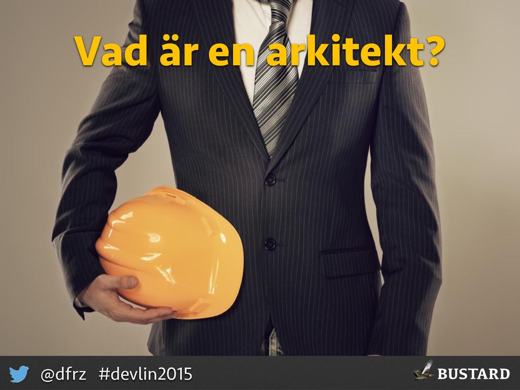 BUSTARD @dfrz #devlin2015 Vad är en arkitekt?