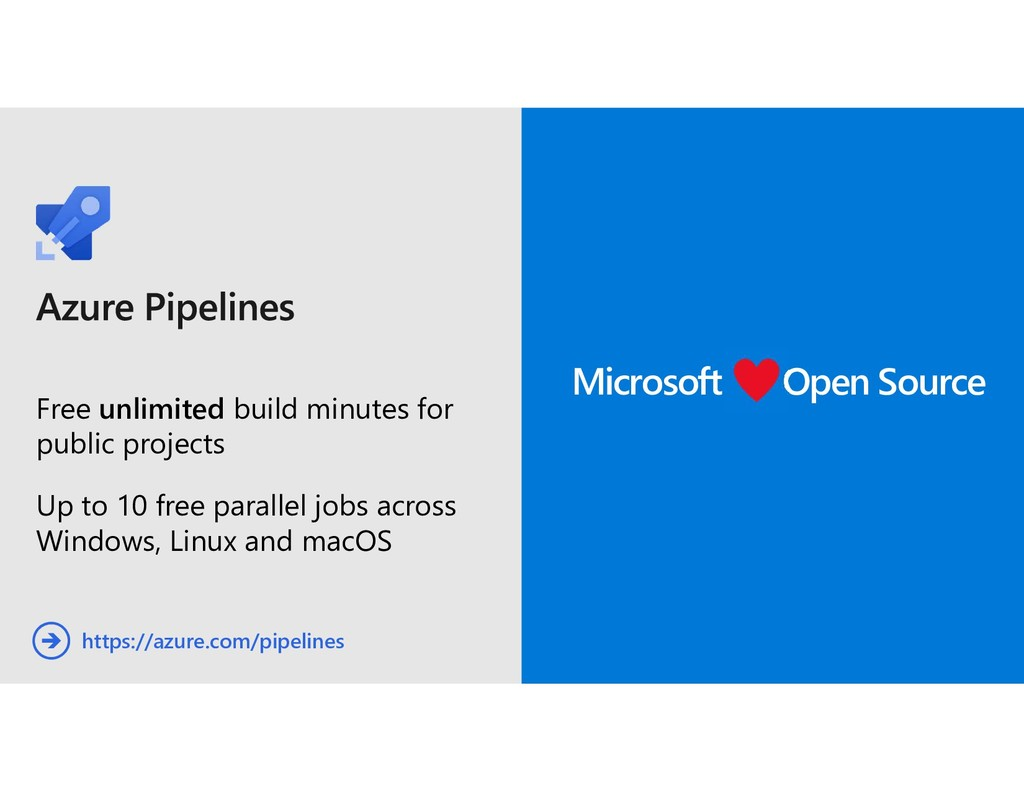 Free unlimited build minutes for public project...