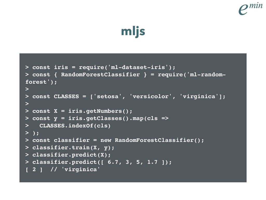 > const iris = require('ml-dataset-iris'); > co...