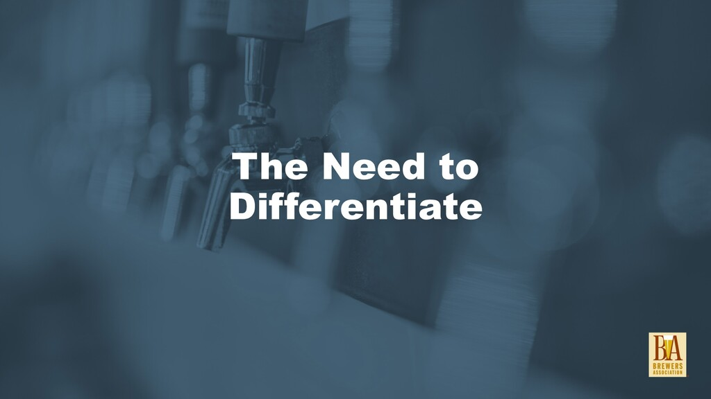 The Need to Differentiate