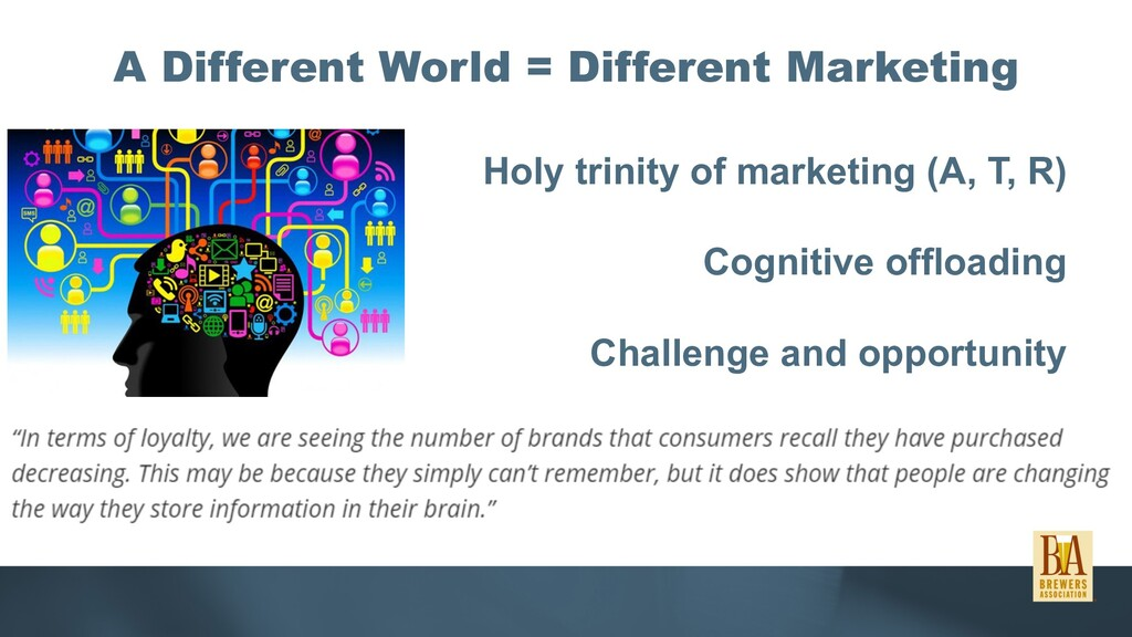 A Different World = Different Marketing Holy tr...