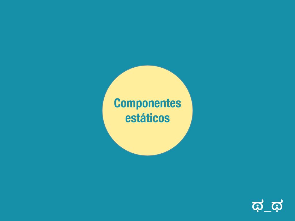 Componentes estáticos ಥ_ಥ