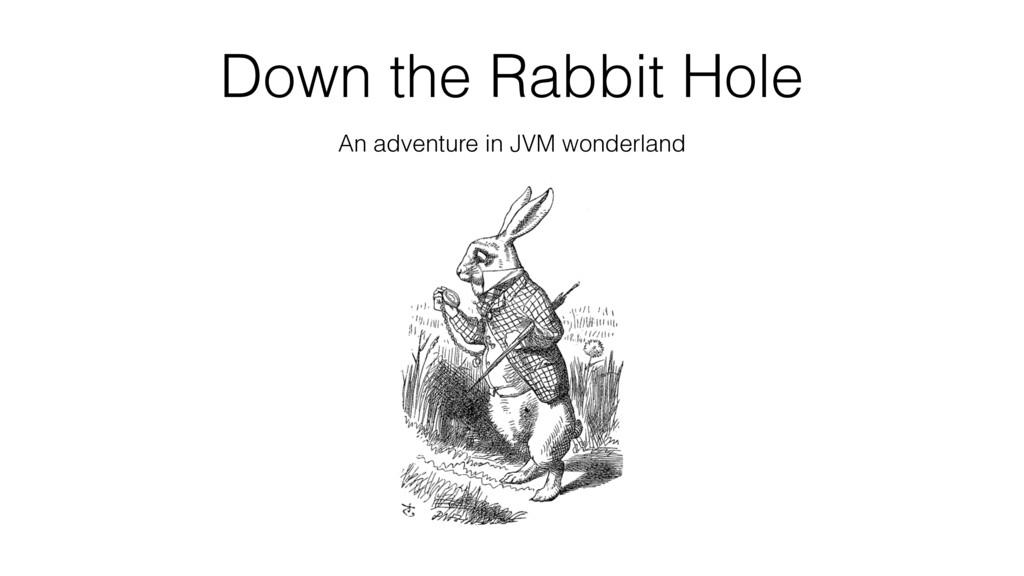Down the Rabbit Hole An adventure in JVM wonder...