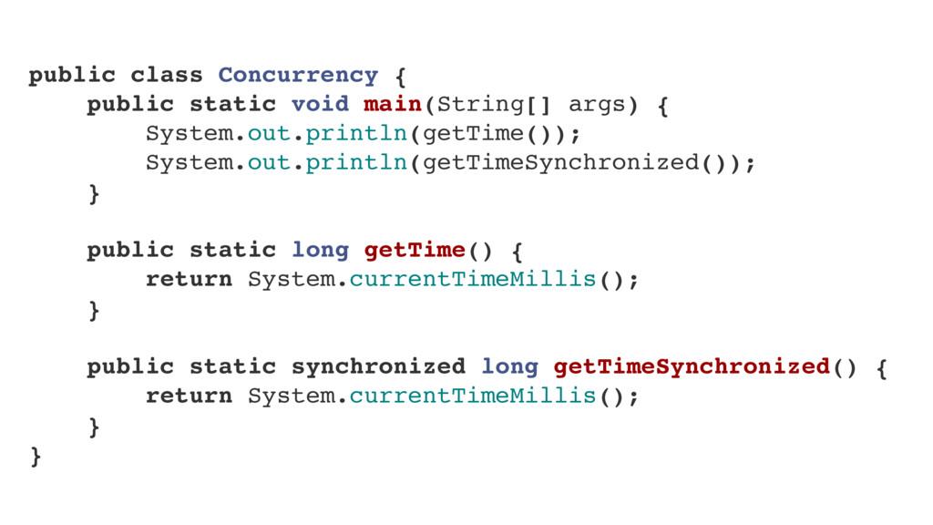 public class Concurrency { public static void m...