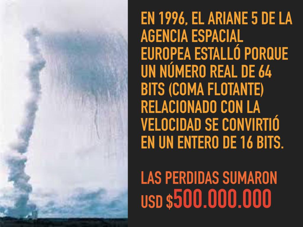 EN 1996, EL ARIANE 5 DE LA AGENCIA ESPACIAL EUR...