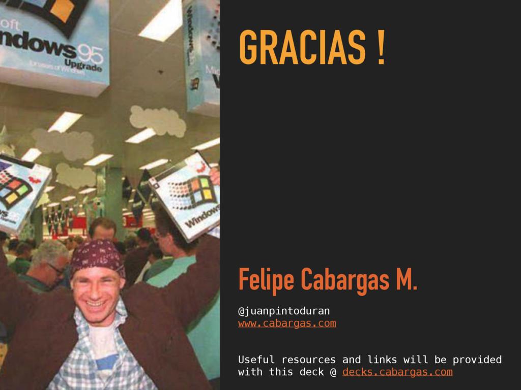 GRACIAS ! Felipe Cabargas M. @juanpintoduran ww...