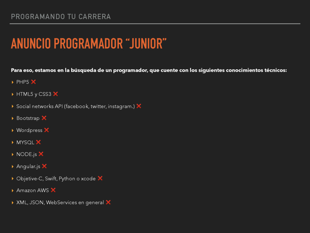 "PROGRAMANDO TU CARRERA ANUNCIO PROGRAMADOR ""JUN..."