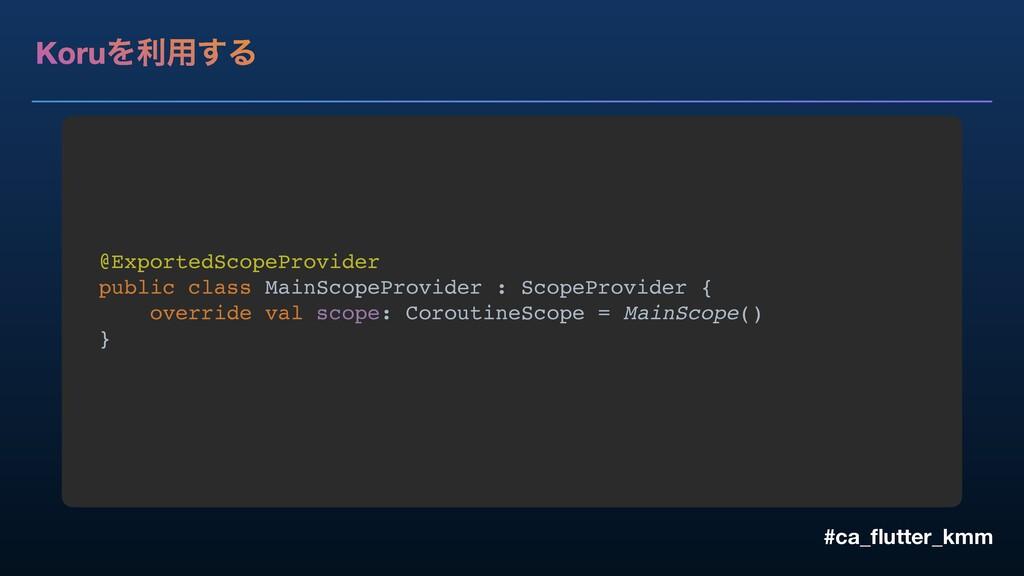 KoruΛར༻͢Δ #ca_flutter_kmm @ExportedScopeProvider...