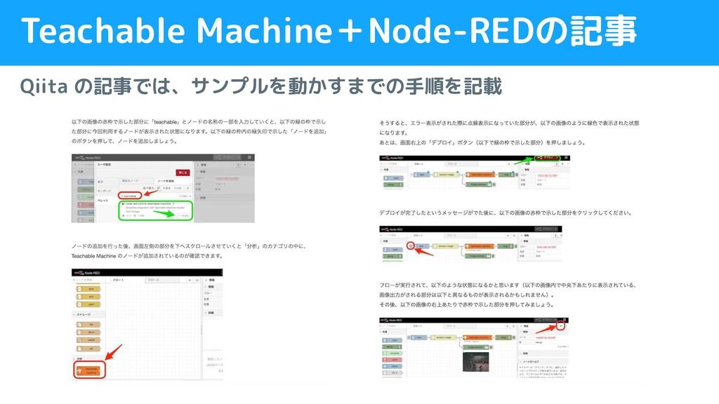 Teachable Machine+Node-REDの記事 Qiita の記事では、サンプルを...