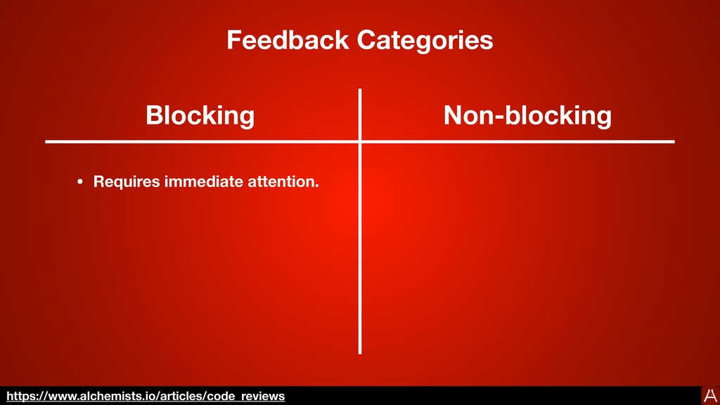 Categories Blocking Non-blocking