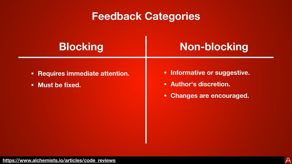 Categories Blocking Non-blocking • Requires imm...