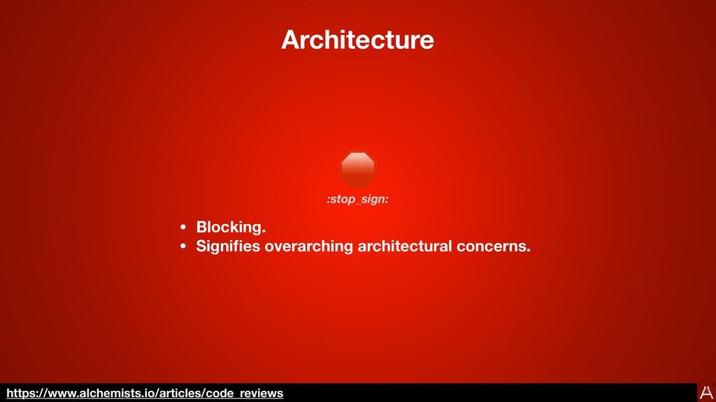 Architecture 🛑 • Blocking. • Signi fi es overar...