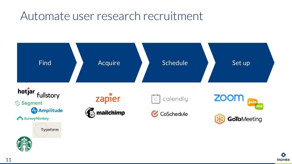 Automate user research recruitment 11 Find Set ...