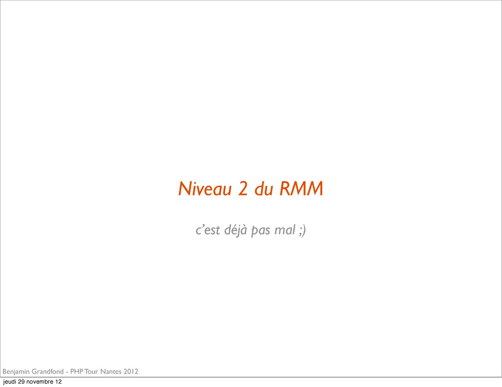 Niveau 2 du RMM Benjamin Grandfond - PHP Tour N...