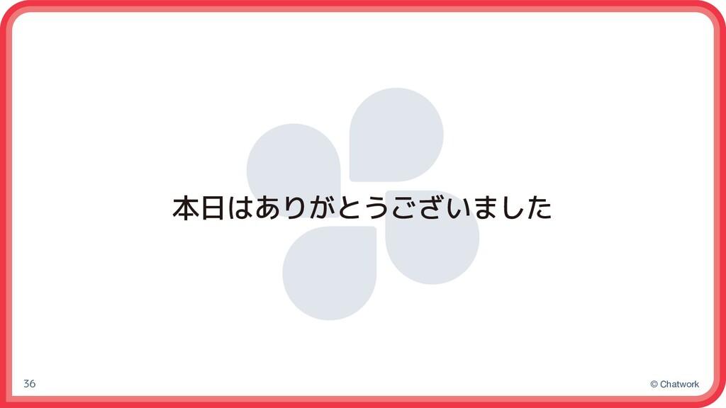 © Chatwork 本日はありがとうございました 36
