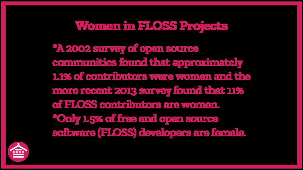 *A 2002 survey of open source communities found...