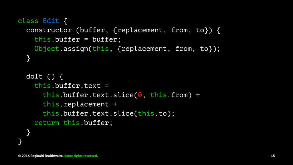 class Edit { constructor (buffer, {replacement,...