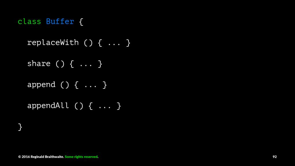 class Buffer { replaceWith () { ... } share () ...