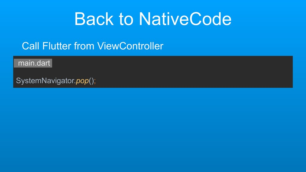 Back to NativeCode main.dart SystemNavigator.po...