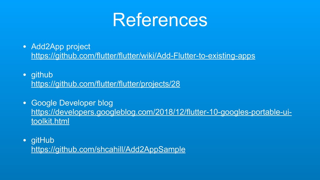References • Add2App project https://github.co...