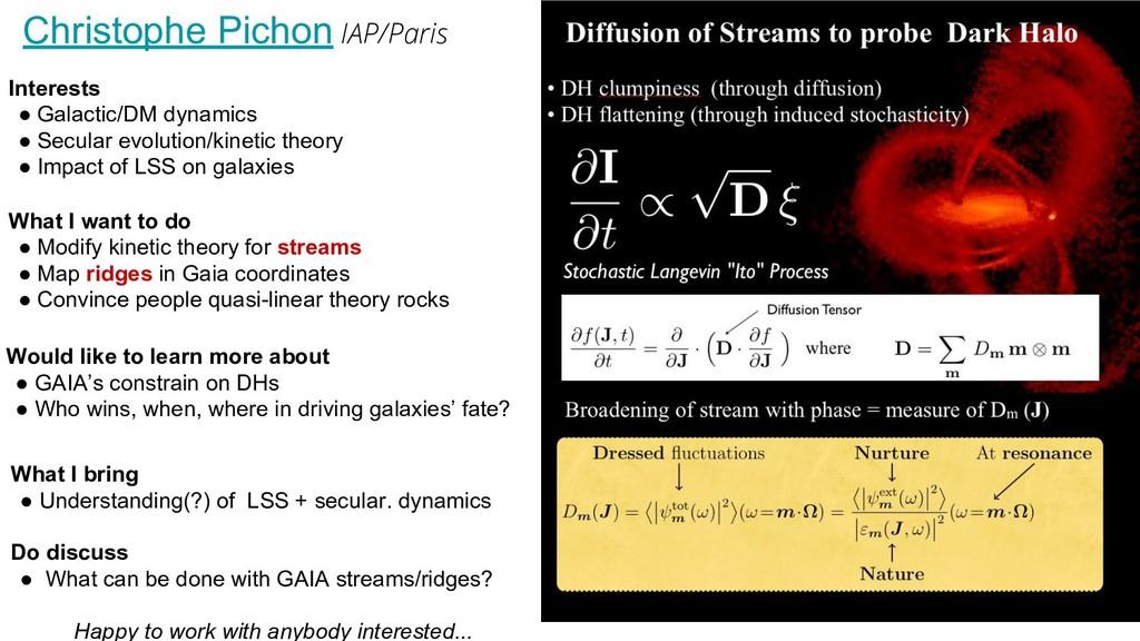 Christophe Pichon IAP/Paris Interests ● Galacti...