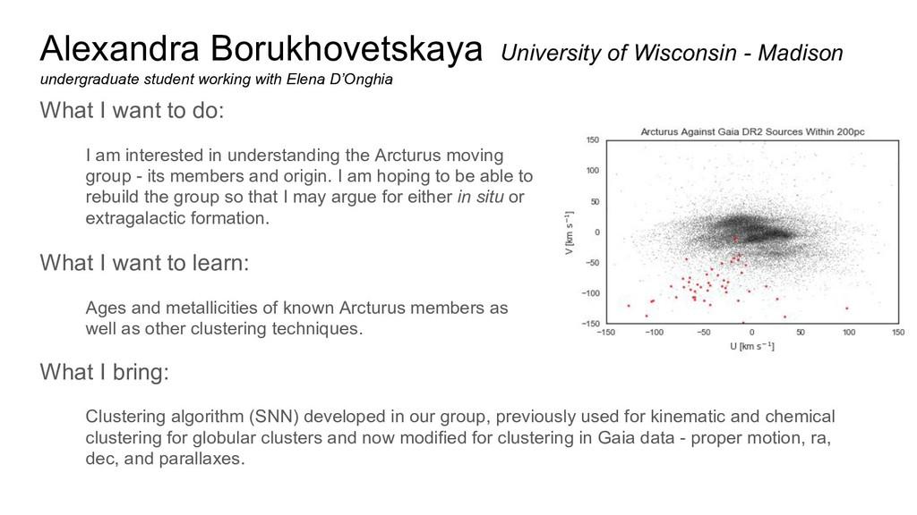 Alexandra Borukhovetskaya University of Wiscons...