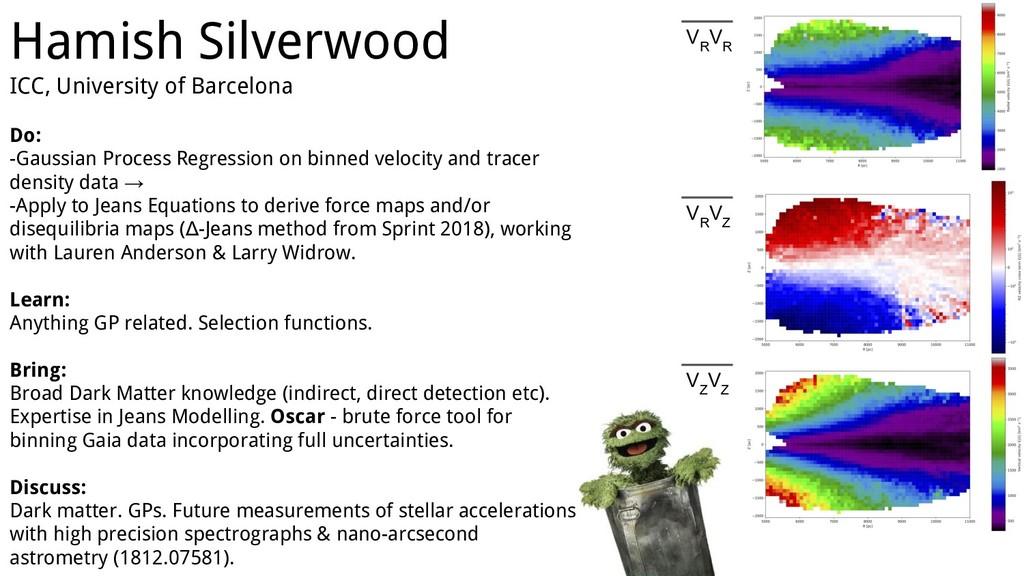 Hamish Silverwood ICC, University of Barcelona ...
