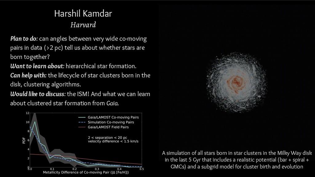 Harshil Kamdar Harvard Plan to do: can angles b...
